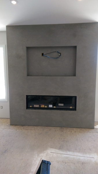 Polished Concrete Plaster Fireplace Venetian Plaster