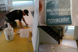 Simply Home Decorating specified Novacolor wall2floor plaster to resurface their clients' old porcelain tiles.